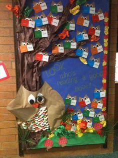 owl bulletin board books | One Tiny Moment: Classroom Bulletin Boards....