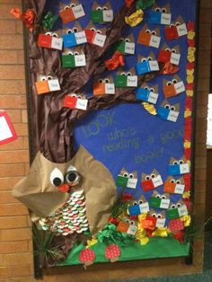 owl bulletin board books | One Tiny Moment: Classroom Bulletin Boards....