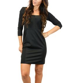 Loving this Black Boatneck Sheath Dress on #zulily! #zulilyfinds