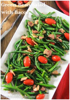 Smoky cooked bacon takes this green bean salad to a whole new level.