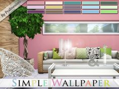 The Sims Resource: Simple Wallpaper by Pralinesims • Sims 4 Downloads