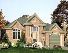 European House Plan 48192 Elevation