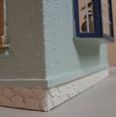 Stucco and stone foundation detail - Orchid (build) by KathieB - Gallery - The Greenleaf Miniature Community - idea for stucco for walls of my Arthur dollhouse