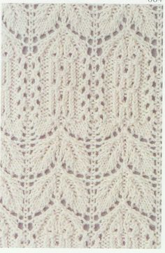 Lace Knitting Stitch #64  with charted pattern.  I can just imagine how beautiful any knitting project that uses this stitch will look! I'm going to use it on one of my knit tunics ! *i*