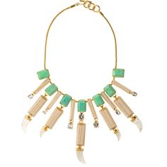 Everglades Embellished Bib Necklace ($2,300) ❤ liked on Polyvore featuring jewelry, necklaces, accessories, jewels, jewel necklace, swarovski crystal necklace, swarovski crystal jewelry, charm necklace and green charm