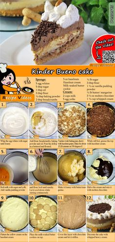 How about a children's Bueno cake? The Kinder-Bueno-Torte Recipe Video is easy to find with the help of the QR-Code :) bake How about a children's Bueno cake? The Kinder-Bueno-Torte Recipe Video is easy to find with the help of the QR-Code :) Sweet Recipes, Cake Recipes, Dessert Recipes, Simple Recipes, Margarine Recipe, Torte Recipe, Healthy Peanut Butter, Pie Dessert, Food Cakes