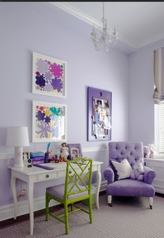 A pale lavender may be another option? It looks nice with white and green accents.