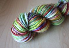 Hand Dyed Yarn / Multicolor Bohemian Moss Red by phydeauxdesigns