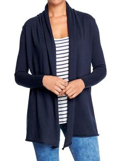 Women's Shawl-Collar Open-Front Cardigans Product Image