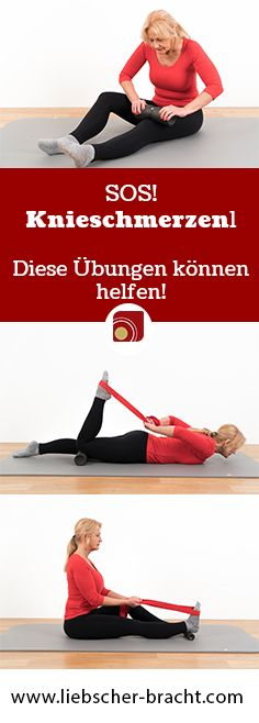 You have knee pain? After a walk, strength training or even a slight onset, your knees hurt. We'll show you exercises that can help you get rid of your discomfort in the long term. # Home remedies # Knee pain # Stretching exercise Fitness Workouts, Fitness Herausforderungen, Fun Workouts, Health Fitness, Bodybuilding, Squat Challenge, Stretching Exercises, Knee Pain, Glutes