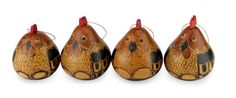 LOVE these Folk Art Roosters that are hand crafted out of gourds!  They are listed on eBay 8/31/14 and sold in sets of 4.  $29.99 or Best Offer. HANG them from a shelf with knobs or sit them on a shelf.........Mate Gourd Ornaments 'Roosters' Set (4) Artist Engraved Folk Art NOVICA Peru #NOVICA