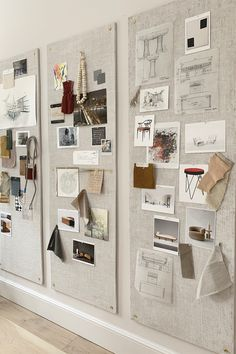 interior design creative The Swooniest Pin-Boards Design Studio Office, Office Interior Design, Office Interiors, Interior Design Boards, Moodboard Interior Design, Mood Board Interior, Cafe Interiors, Art Studio Design, Modern Office Design
