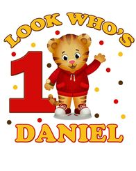 Daniel Tiger's Neighborhood Birthday Iron On Transfers Decal