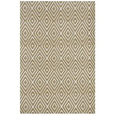 I pinned this Dash & Albert Diamond Indoor/Outdoor Rug in Khaki from the Dwell with Dignity event at Joss and Main!
