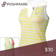 Women's Nike Stripe Pure Dri-FIT V-Neck Tank xs Women's Nike Stripe Pure Dri-FIT V-Neck Tennis Tank x small Nike Tops Tank Tops