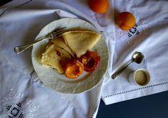 Gluten Free Crêpes with Cinnamon Baked Apricots   Wonderland Eats