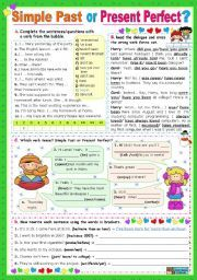 English worksheet: Simple Past or Present Perfect? | School307
