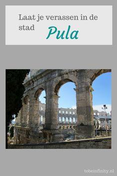 Laat je verassen door de vele bezienswaardigheden van Pula, Kroatië. Er is genoeg te doen. Pula, Dubrovnik, Under Construction, Brooklyn Bridge, Places Ive Been, Dutch, Infinity, Wanderlust, Europe