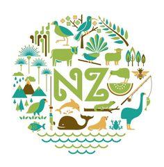 Art Prints : Nature of New Zealand Print New Zealand Art, Nz Art, Maori Art, Kiwiana, Online Gift Shop, Print Artist, Graphic Design Art, Vintage Posters, Giclee Print