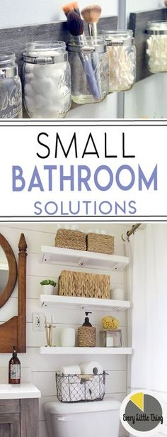 Tiny bathroom? Learn organizing tips for small bathrooms. Lets do it!