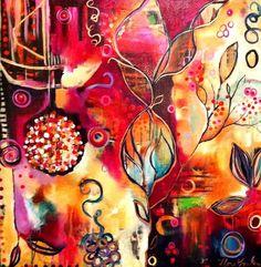 Flora Bowley (harmonische Farbenpracht, Ausdruck einer lebendigen und ausgeglichenen Emotionalität) gehört an sich nicht auf diese Pinwand, bildet aber eine schöne Abwechslung! https://de.pinterest.com/florabowley