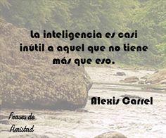 Frases filosoficas inteligentes de Alexis Carrel