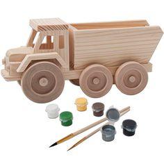 John Deere 3D Wood Toy Dump Truck Paint Kit QC Supply MmPOJODZ