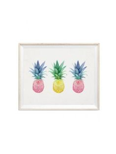 Pineapple Trio Print