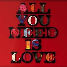 Vinyl Words- Cut from Vinyl Records - Love.