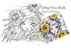 Keep In Faith - Digital Stamp Instant Download / Art by Ching-Chou Kuik