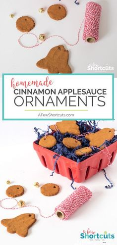 A simple #Christmas Craft that you can make with your kids. Check out these #Homemade Cinnamon Applesauce Ornaments. They make great gifts!