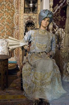 Turkish Wedding Dress, Gold Work, Ottoman Empire, Embroidery Techniques, Traditional Outfits, Exhibit, Kaftan, 19th Century, Bodice