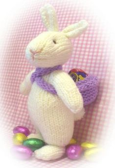 Knitting Pattern for Eggbert the Easter Bunny