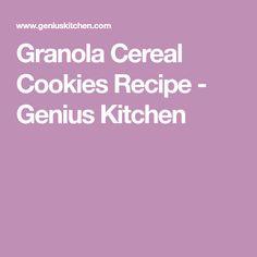 Granola Cereal Cookies Recipe - Genius Kitchen