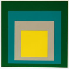 homage to the square: park. silkscreen after a painting, 1967. joseph albers.