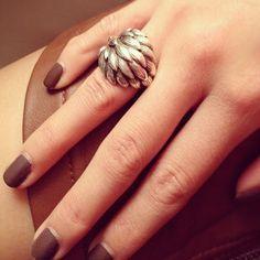 sterling silver napier artichoke ring