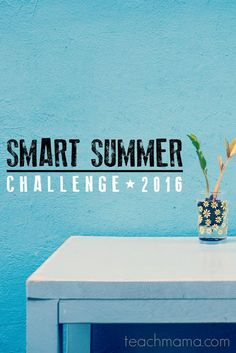 make this summer rock: Smart Summer Challenge 2016! | summer learning for kids | free summer fun calendar for kids 4-7 and 8-14 years | teachmama.com