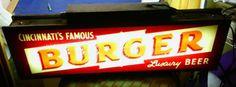 Burger Beer Sign
