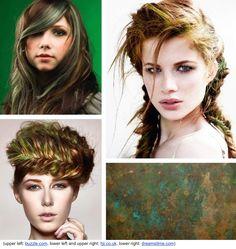 Hair Color Inspiration And Formulation: Verdigris Oxidized Green
