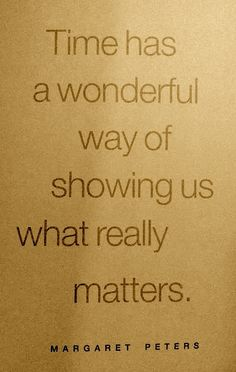 What really matters...?