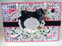 194.Cardmaking Project: Anna Griffin Ornate Black Rose Card