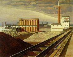 CharlesSheeler-Classic-Landscape-1931.jpg 826×648 pixels