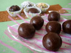 Marie Biscuit Chocolate Balls recipe is an easy to make food recipe that makes for a quick dessert to serve in kid parties. Its made with condensed milk, cocoa pwd and marie biscuits. Indian Dessert Recipes, Sweets Recipes, Easy Desserts, Delicious Desserts, Snack Recipes, Kid Recipes, Snacks, Pudding Recipes, Candy Recipes
