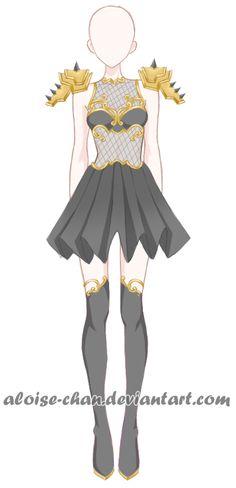 [SOLD] Gloomy Armour Adoptable by Aloise-chan.deviantart.com on @DeviantArt
