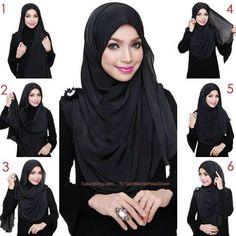 Easy Everyday Hijab Tutorial for Women - Girls SN - Fashion & Style Square Hijab Tutorial, Pashmina Hijab Tutorial, Hijab Style Tutorial, Stylish Hijab, Modern Hijab, Hijab Chic, Hijab Niqab, Muslim Hijab, Hijab Outfit