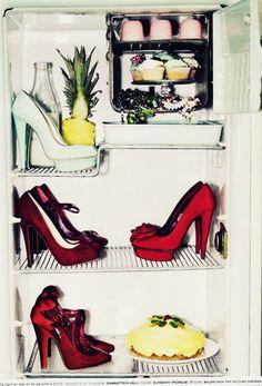 heels in fridge