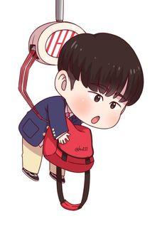 Hanbinie~ Ikon Kpop, Chanwoo Ikon, Kim Hanbin, Ikon Leader, Infinite Art, Ikon Wallpaper, Kpop Fanart, Cute Cartoon, Dibujo