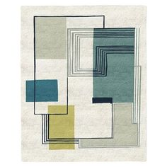 Abstract Lines Special Order Wool Rug (4-Week Delivery) | west elm