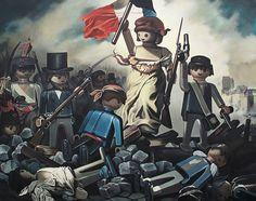 Un peintre recrée les tableaux les plus célèbres avec des Playmobils - La liberte guidant le peuple E. Delacroix