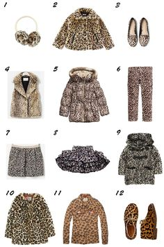leopard print for little girls / print de leopardo moda niña otoño 2013